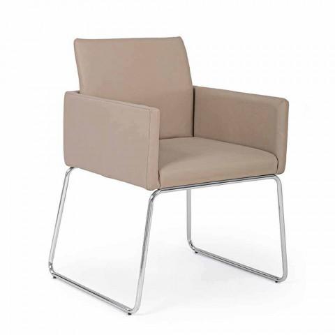 2 židle s područkami potaženými koženkou Modern Design Homemotion - Farra