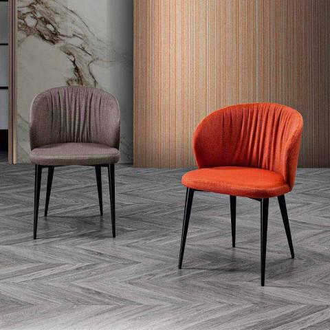 2 židle do obývacího pokoje z látky a jasanu v elegantním designu - Reginaldo