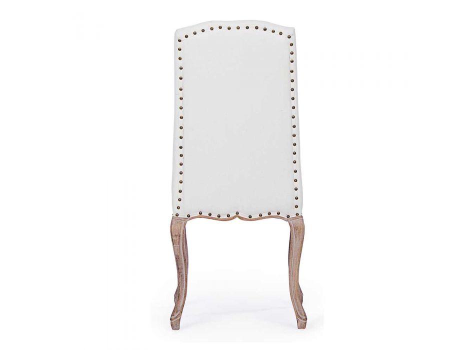 2 jídelní židle s čalouněným a čalouněným sedadlem Homemotion - Mania