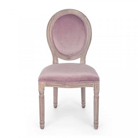 2 jídelní židle klasického designu v Polyester Homemotion - Dalida