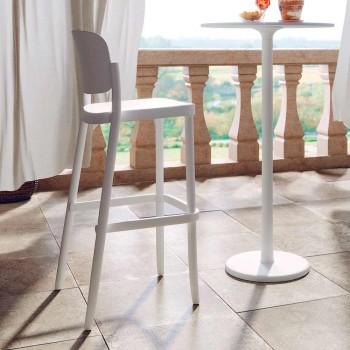 2 venkovní stohovatelné stoličky z polypropylenu Vyrobeno v Itálii - Calista