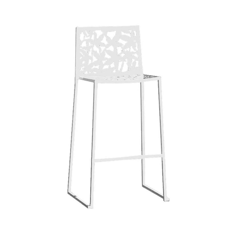 2 stoličky v provedení White Metal Laser Cut Low nebo High Design - Patatix