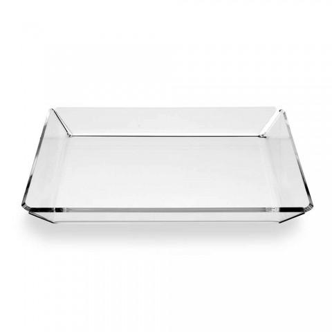 2 moderní designový vstupní plexisklový podnos z průhledného plexiskla - Tonio
