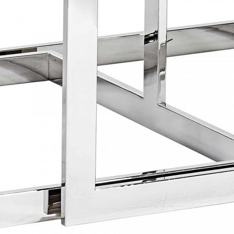 2 stoly Moderní design z nerezové oceli se skleněnou deskou Bubbi