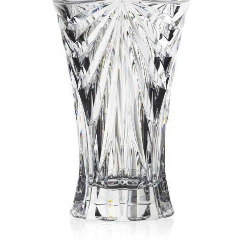 2 vázy na dekoraci stolu v ekologickém křišťálu s jedinečným designem - Daniele