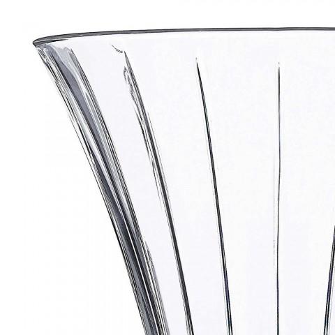 2 designové dekorační vázy v transparentním luxusním dekoru Eco Crystal - Senzatempo