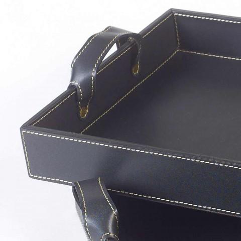 2 černá kůže vzory Zásobník 41x28x5cm a 45x32x6cm Anastasia