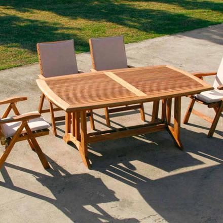 Rozkládací stůl teak venkovní Amalfi