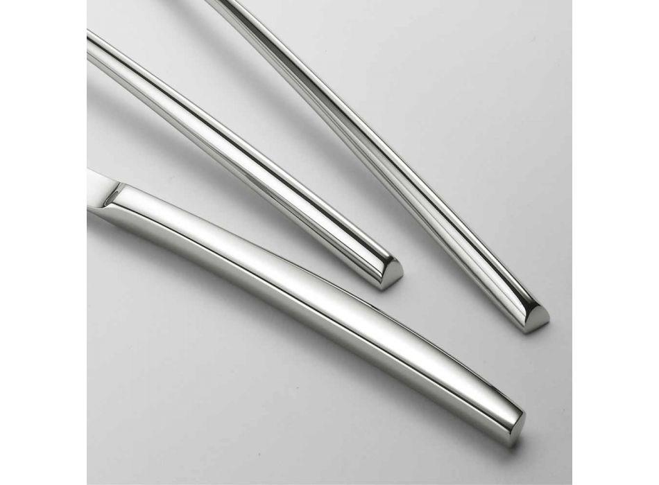 Trojúhelníkový design příborů z leštěné oceli 24 Elegantní moderní design - Caplin