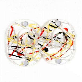 3 nástěnná ramínka v barevném plexiskle s dvojitým italským designem s klipem - Freddie
