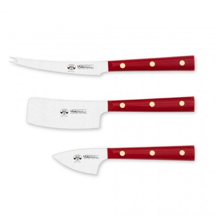 3 nože na sýr z nerezové oceli, Berti exkluzivně pro Viadurini - Asiago