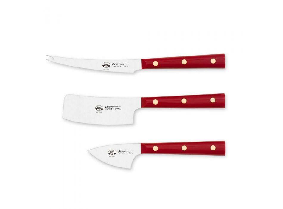 3 nerezové nože na sýr Berti exkluzivně pro Viadurini - Asiago