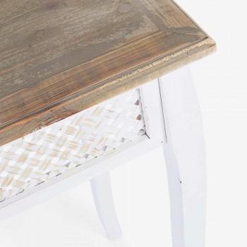 3 designová konzole v klasickém stylu z bambusového bambusu a MDF - Camalow
