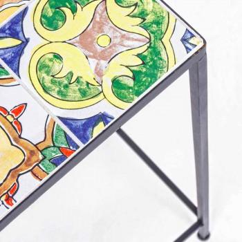 3 čtvercové zahradní stoly z oceli s dekoracemi - okouzlující