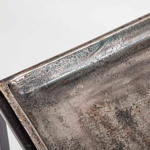 3 čtvercové konferenční stolky z hliníku a oceli Homemotion - Quinzio