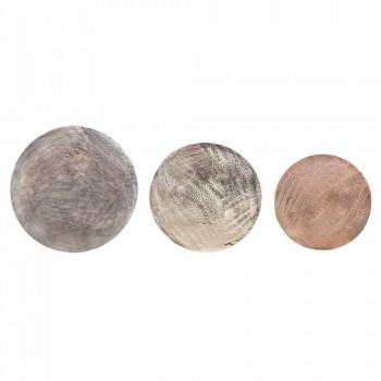 3 kulaté konferenční stolky z hliníku a oceli Homemotion - Sempronio