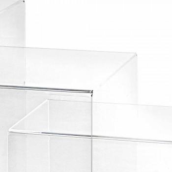 3 transparentní stohovatelný stolům Amalia design, vyrobeno v Itálii