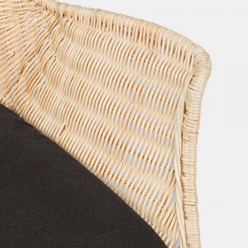 4 venkovní židle z tkaného proutí a oceli Homemotion - Berecca