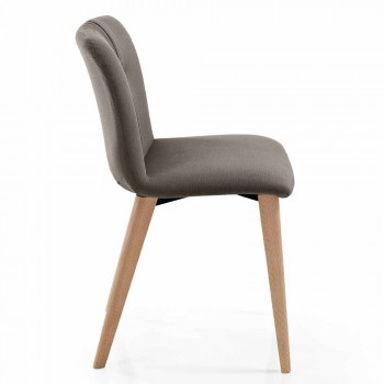 4 židle do obývacího pokoje čalouněné v provedení Fabric and Ash Legs - Florinda