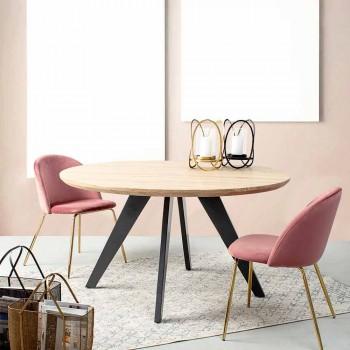 4 designová židle čalouněná sametem s ocelovou konstrukcí Homemotion - Dania
