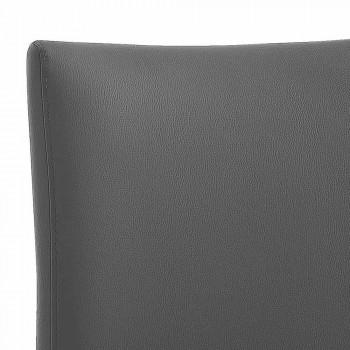 4 elegantní moderní designová židle v barevné Ecoleather pro obývací pokoj - Grenger