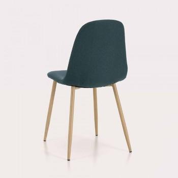 4 jídelní židle s látkovým sedákem a kovovou konstrukcí - Pampa