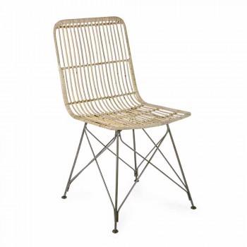 4 jídelní židle z oceli a vazby od Kubu Homemotion - Kendall
