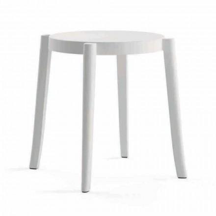 4 moderní stohovatelné venkovní stoličky v polypropylenu Vyrobeno v Itálii - Anona
