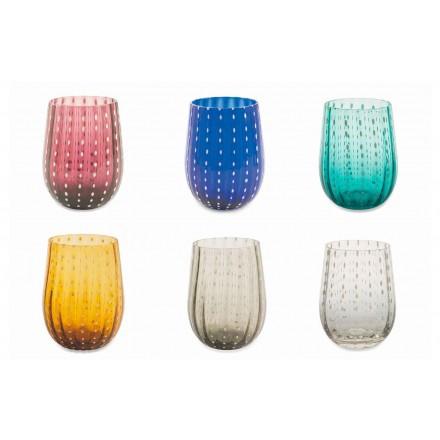12 barevných a moderních skleněných brýlí pro elegantní vodu - Persie