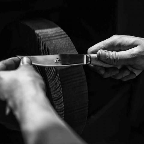 6 ručně vyráběných steakových nožů v rohu nebo dřevě vyrobených v Itálii - Zuzana