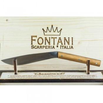 6 ergonomických steakových nožů s ocelovou čepelí vyrobených v Itálii - žralok