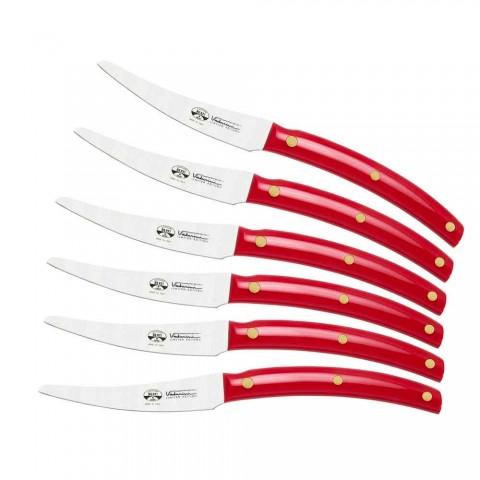 6 stolních nožů Convivio Nuovo Berti exkluzivně pro Viadurini - Alserio