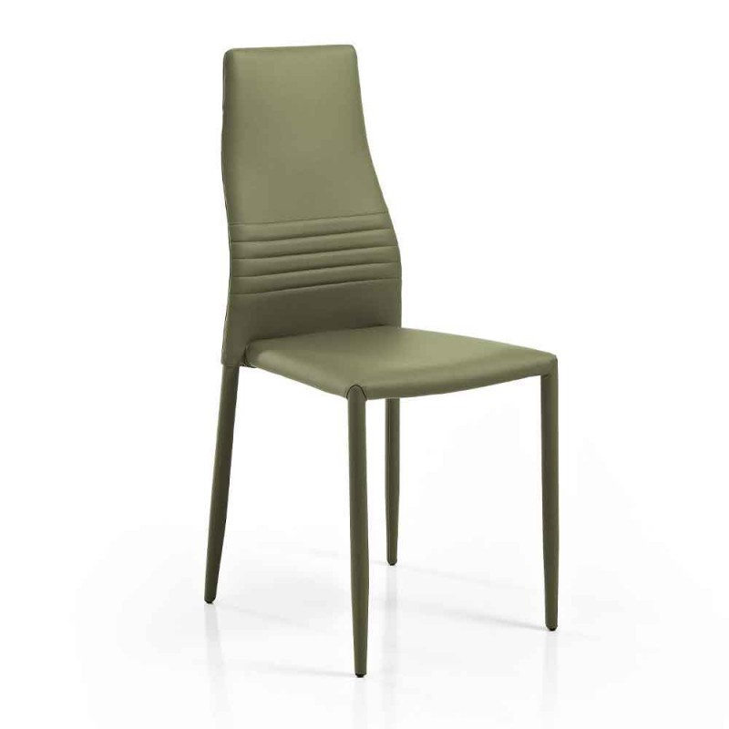 6 skládacích židlí v barevném moderním designu z ekokože do obývacího pokoje - Merida