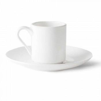 6 porcelánových kávových šálků s kávovou konvicí a cukrovou miskou - Romilda