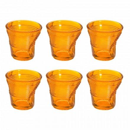 12 šálků kávy zmačkané barevné designové sklo - Sarabi