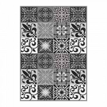 6 elegantní prostírání v Pvc a polyesteru s černým nebo šedým vzorem - Pita