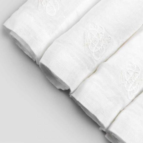 6 lehkých plátěných ubrousků s italským luxusním dekorem - Virtu