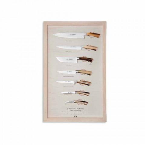 7 nerezových nástěnných nožů Berti exkluzivně pro Viadurini - Modigliani