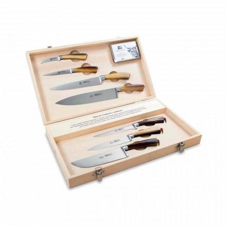 7 italských nožů z nerezové oceli, Berti exkluzivně pro Viadurini - Goya