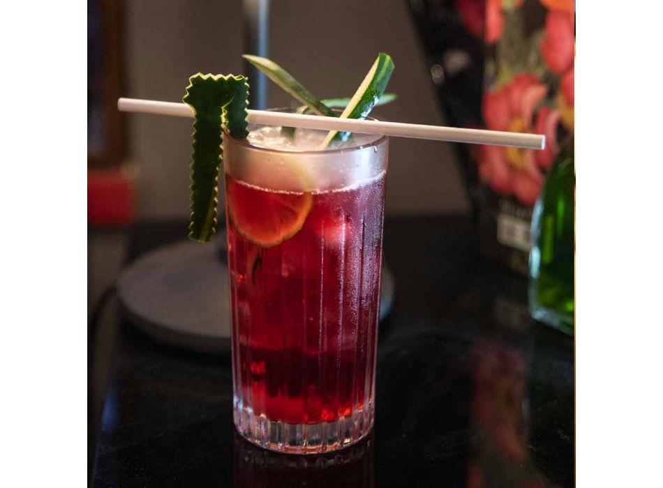 8 Highball Tumbler vysokých sklenic na koktejl v Eco Crystal - Malgioglio