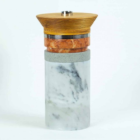Aperitiv Příslušenství Koktejlové nástroje z mramoru, dřeva a oceli - Norman
