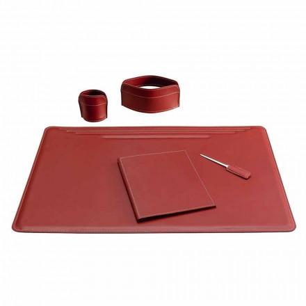 5-dílná kožená pracovní deska vyrobená v Itálii - Ebe