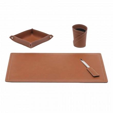 Příslušenství Regenerovaný kožený stůl, 4 kusy, Vyrobeno v Itálii - Ascanio