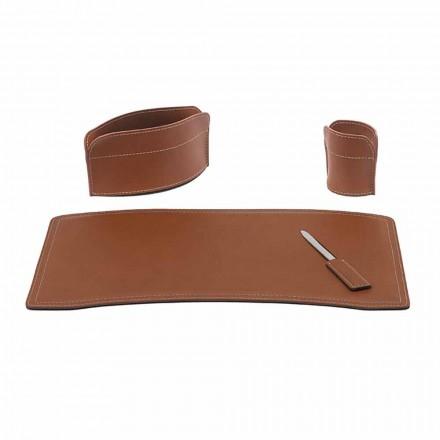 Příslušenství Kancelářský stůl z regenerované kůže Made in Italy - Brando