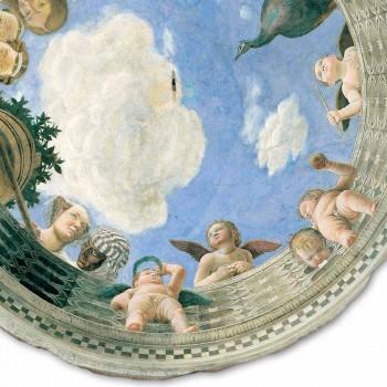 """Andrea Mantegna Fresco """"Oculus s andělíčky a Dame výhledem"""""""
