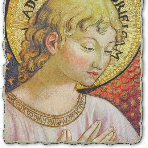 "Fresco Benozzo Gozzoli ""Sbory andělů v klanění"""
