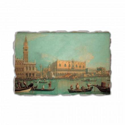 """Fresco Canaletto """"Pohled na Palazzo Ducale di Venezia"""""""