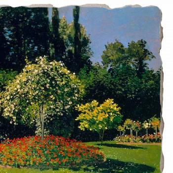 "Fresco Claude Monet ""Lady in Garden v Sainte-Adresse"""