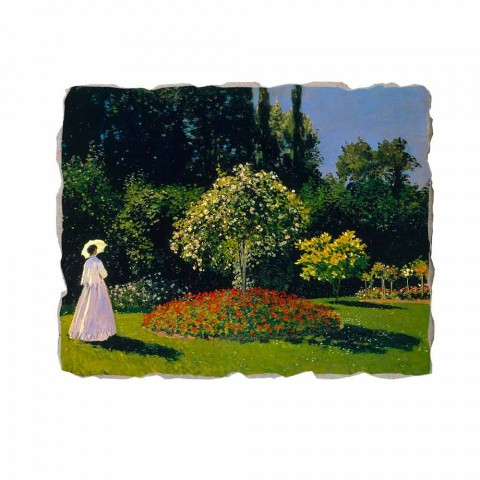 "Fresco Claude Monet ""Lady in Garden v Sainte-Adresse"""
