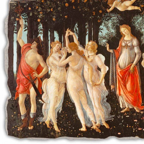 """Fresco ruční práce Botticelli je """"Alegorie jara"""""""